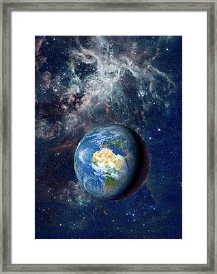 Earth From Space Framed Print