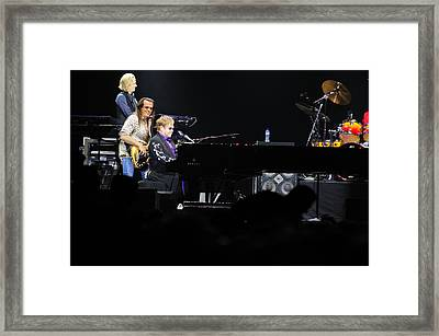 Elton John Framed Print by Jenny Potter