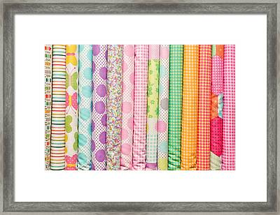 Fabric Background Framed Print