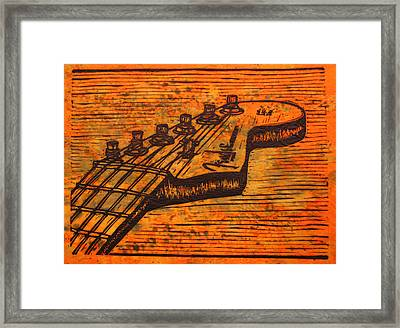 Fender Strat Framed Print by William Cauthern