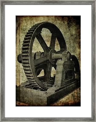 8 Ft Diameter Industrial Gear Framed Print