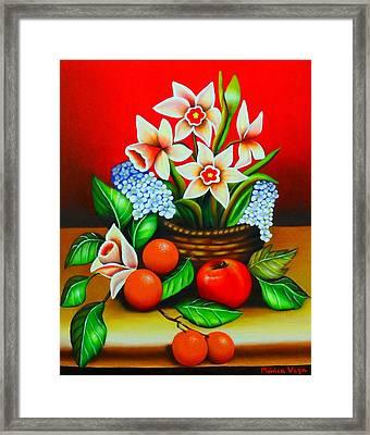 Garden Delights Framed Print by Monica  Vega