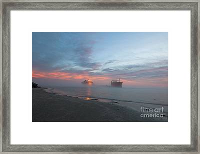 Ghost Ship Framed Print by Dale Powell