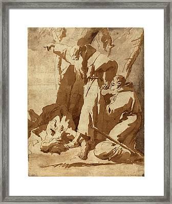 Giovanni Battista Tiepolo, Italian 1696-1770 Framed Print by Litz Collection