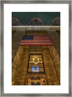 Grand Central Terminal Facade Framed Print by Susan Candelario