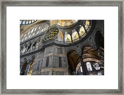 Hagia Sophia In Istanbul Turkey Framed Print by Brandon Bourdages