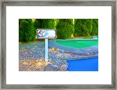 8 Hole Sign On  Golf Course Framed Print by Lanjee Chee