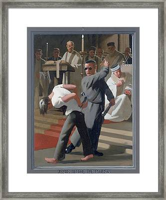 8. Jesus Before The Priests / From The Passion Of Christ - A Gay Vision Framed Print by Douglas Blanchard