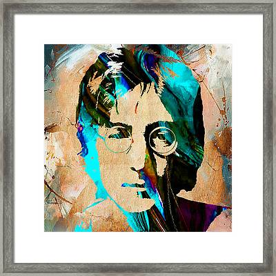 John Lennon Painting Framed Print