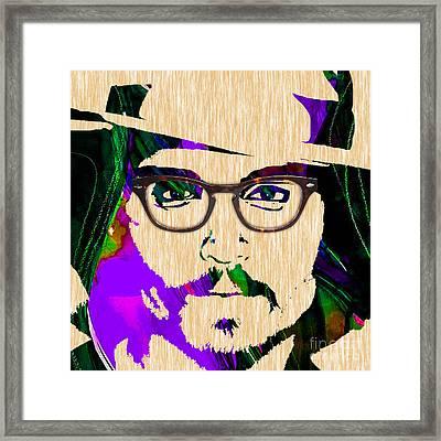 Johnny Depp Collection Framed Print