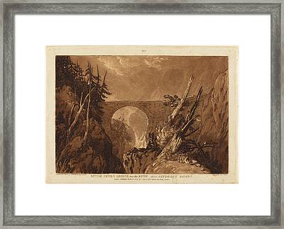 Joseph Mallord William Turner And Charles Turner British Framed Print by Quint Lox