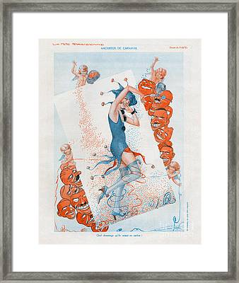 La Vie Parisienne 1930 1930s France Cc Framed Print by The Advertising Archives
