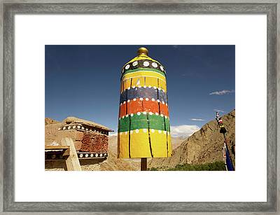Ladakh, India Religious Structures Framed Print by Jaina Mishra