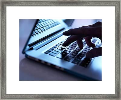 Laptop Use Framed Print