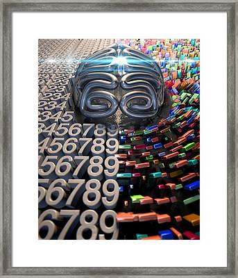 Left And Right Brain Concept Framed Print by Allan Swart