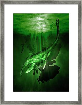 Loch Ness Monster Framed Print by Victor Habbick Visions