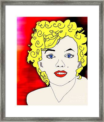 Marylin Monroe Painting Framed Print