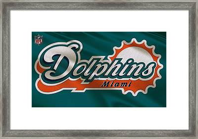 Miami Dolphins Uniform Framed Print by Joe Hamilton