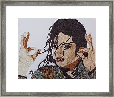 Michael Jackson Framed Print by Kovats Daniela