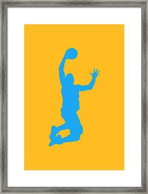 Nba Shadow Players Framed Print by Joe Hamilton