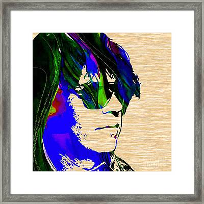 Neil Young Collection Framed Print by Marvin Blaine