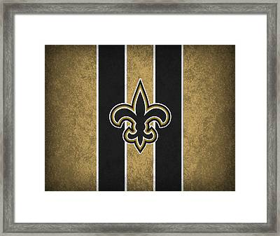 New Orleans Saints Framed Print by Joe Hamilton