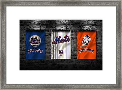 New York Mets Framed Print by Joe Hamilton