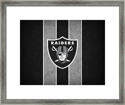Oakland Raiders Framed Print by Joe Hamilton