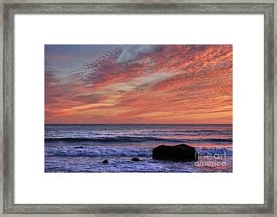 Ocean Sunrise Framed Print by John Greim