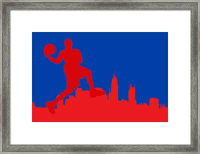 Philadelphia 76ers Framed Print by Joe Hamilton