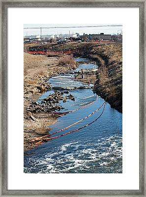 Polluted River Framed Print by Jim West