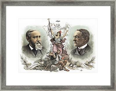 Presidential Campaign, 1888 Framed Print