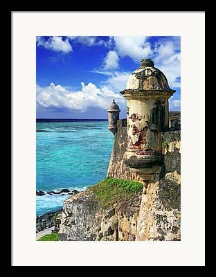 Castillo San Felipe Del Morro Framed Prints