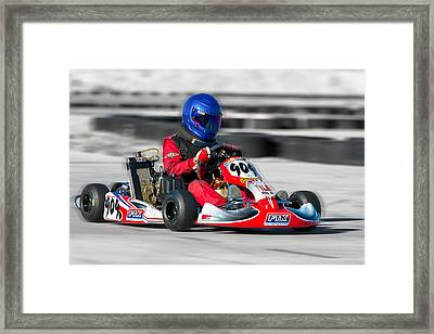 Framed Print featuring the photograph Racing Go Kart by Gunter Nezhoda
