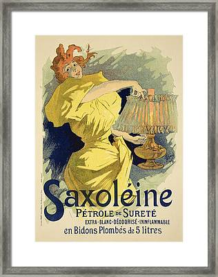 Reproduction Of A Poster Advertising Framed Print by Jules Cheret