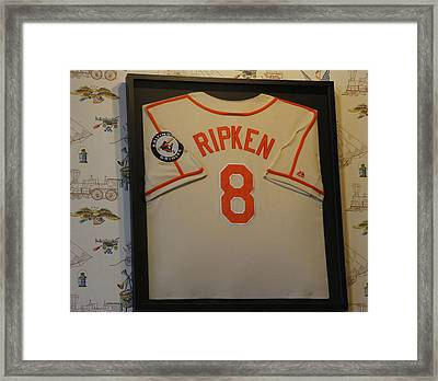 8 Ripken Framed Print by David Simons