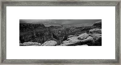 River Passing Through A Canyon Framed Print by Panoramic Images