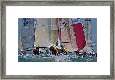 San Francisco Bay Sailboat Racing Framed Print
