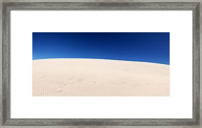 Sand Dunes In A Desert, Maspalomas Framed Print by Panoramic Images
