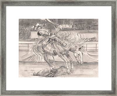 8 Seconds Framed Print by Beverly Marshall