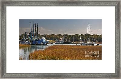 Shem Creek Maritime Framed Print by Dale Powell