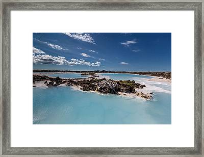 Silica Deposits In Water By The Framed Print