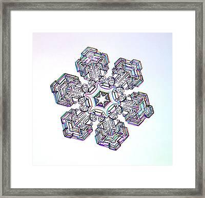 Snowflake Framed Print by Kenneth Libbrecht