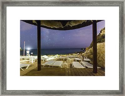 Starry Sky At Praia Do Castelo Framed Print by Andre Goncalves