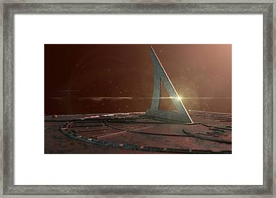 Sundial Lost In Time Framed Print