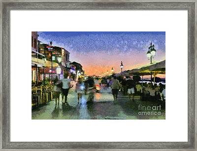 Sunset In Lefkada Town Framed Print