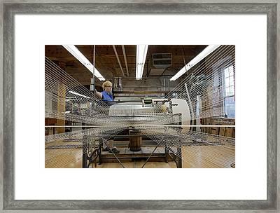 Textile Mill Warping Creel Framed Print