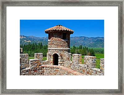 The Castle Winery Napa Valley California Framed Print