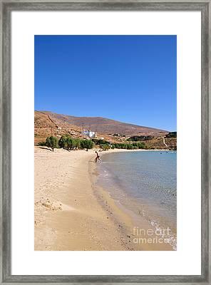 The Famous Psili Ammos Beach Framed Print