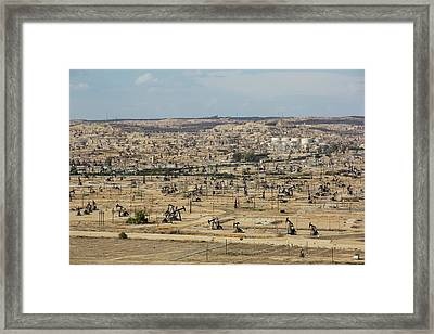 The Kern River Oilfield In Oildale Framed Print